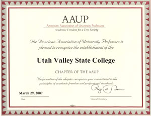uvu-aaup certification small